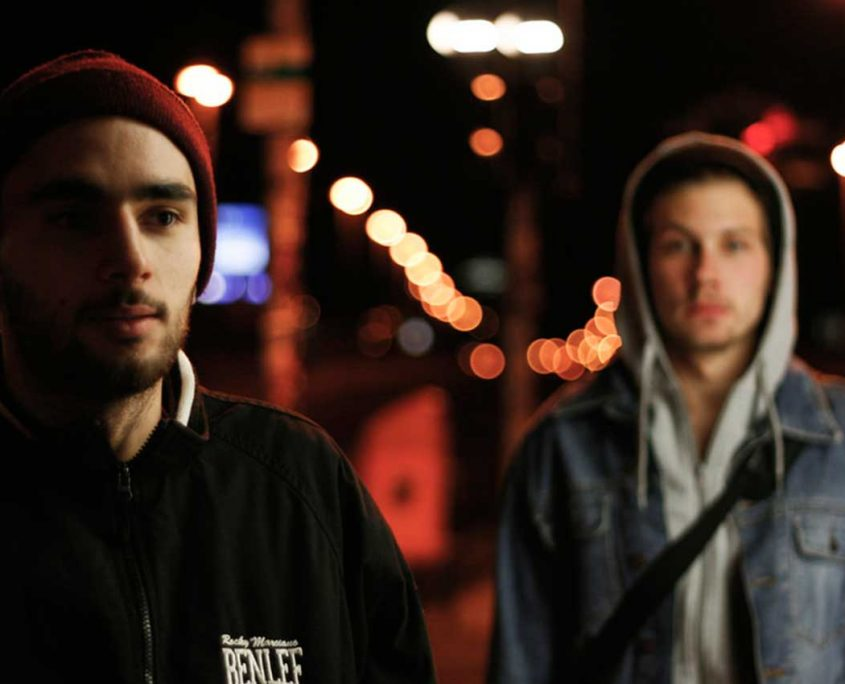 two teens on the street-header